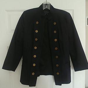 Navy military style jacket/blazer